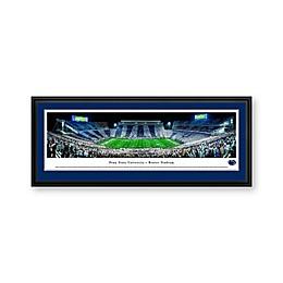 Penn State University Stripe Panorama Stadium Print with Deluxe Frame