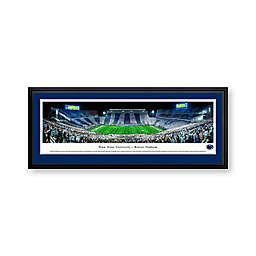 Penn State University Stripe Panorama Stadium Print with Deluxe Frame