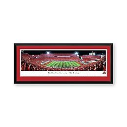 Ohio State University Band Panorama Stadium Print with Deluxe Frame