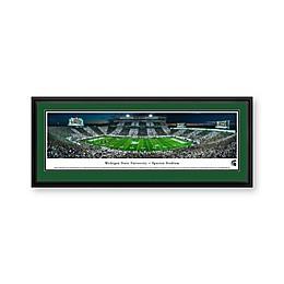 Michigan State University Panorama Stadium Print with Deluxe Frame