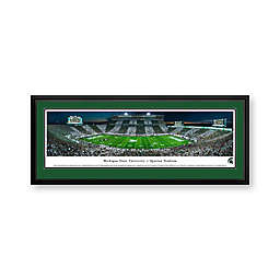 Michigan State University Panorama Stadium Print with Deluxe Frame