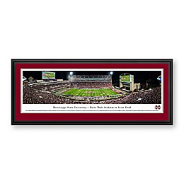 Mississippi State University Panorama Stadium Print with Deluxe Frame