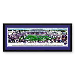 Kansas State University Panorama Stadium Print with Deluxe Frame