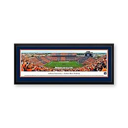 Auburn University Stripe Panorama Stadium Print with Deluxe Frame