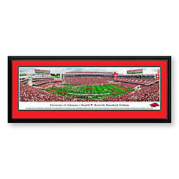 University of Arkansas Panorama Stadium Print with Deluxe Frame