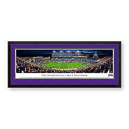Texas Christian University Panorama Stadium Print with Deluxe Frame