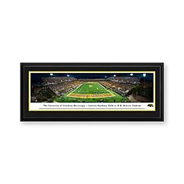 University of Southern Mississippi Panorama Stadium Print with Deluxe Frame
