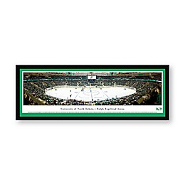 University of North Dakota Face-Off Panoramic Hockey Arena Print with Select Frame