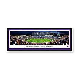 Texas Christian University Panoramic Football Stadium Print with Select Frame