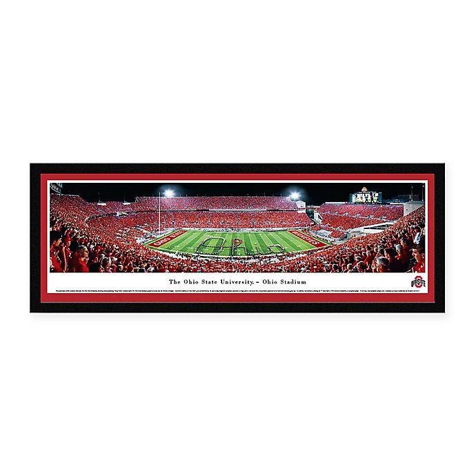 Alternate image 1 for Ohio State University Panoramic Football Stadium Print with Select Frame