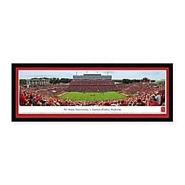 North Carolina State University Panoramic Football Stadium Print with Select Frame