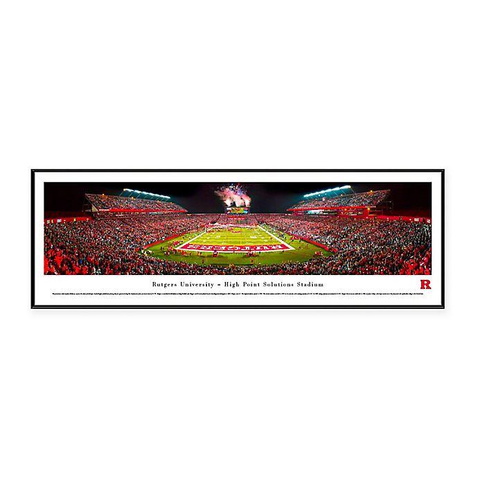 Alternate image 1 for NCAA Framed Stadium Photo of Rutgers University - High Point Solutions Stadium