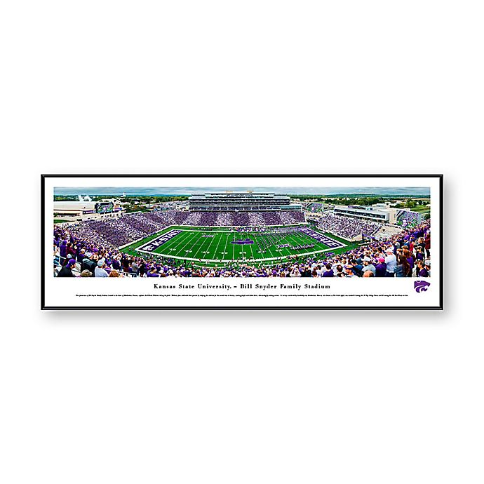 Alternate image 1 for NCAA Framed Stadium Photo of Kansas State University - Bill Snyder Family Stadium