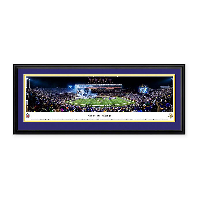 Alternate image 1 for NFL Minnesota Vikings Deluxe Framed Panoramic Picture