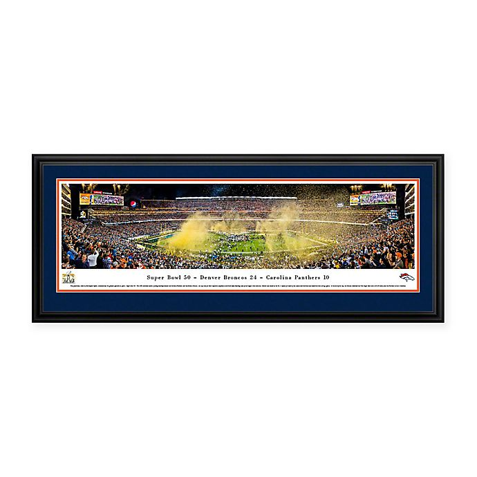 Alternate image 1 for NFL Denver Broncos Super Bowl 2016 Deluxe Framed Panoramic Picture