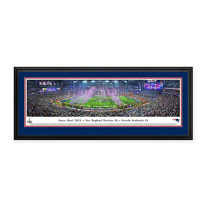 Alternate image 1 for NFL New England Patriots Super Bowl 2015 Deluxe Framed Panoramic Picture