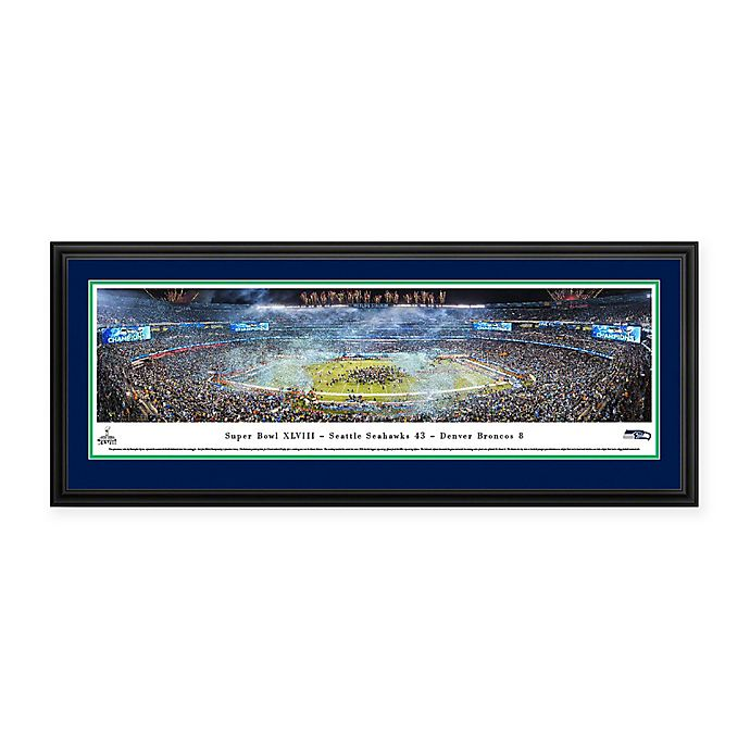 Alternate image 1 for NFL Seattle Seahawks Super Bowl 2014 Deluxe Framed Panoramic Picture