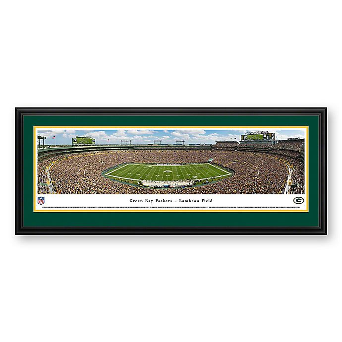 Alternate image 1 for NFL Green Bay Packers 50 Yard Line Deluxe Framed Panoramic Picture
