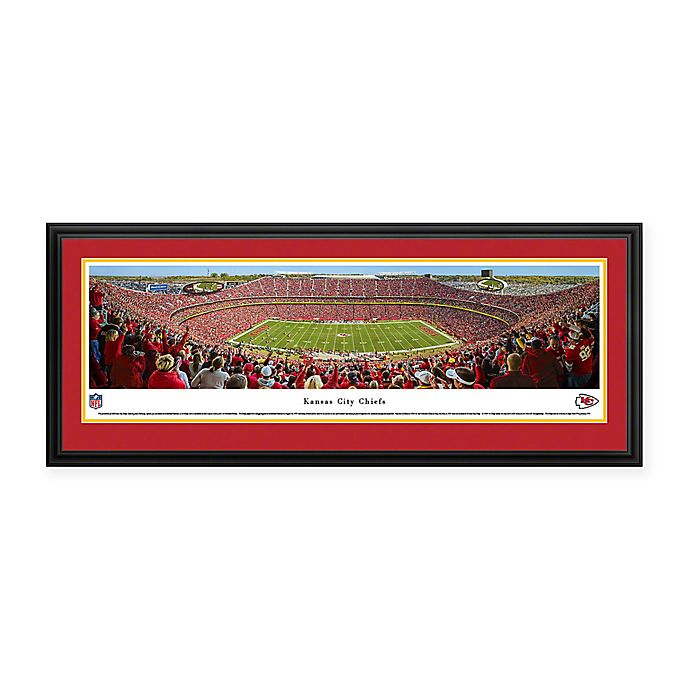 Alternate image 1 for NFL Kansas City Chiefs 50 Yard Line Deluxe Framed Panoramic Picture