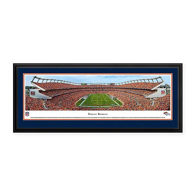 Alternate image 1 for NFL Denver Broncos Mile High Stadium Deluxe Framed Panoramic Picture