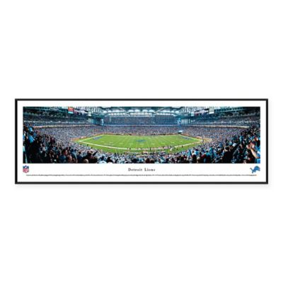 Nfl Detroit Lions Ford Field Standard Panoramic Framed
