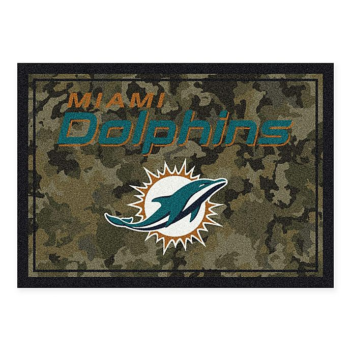 Alternate image 1 for Milliken NFL Miami Dolphins 3-Foot 10-Inch x 5-Foot 4-Inch Camo Area Rug