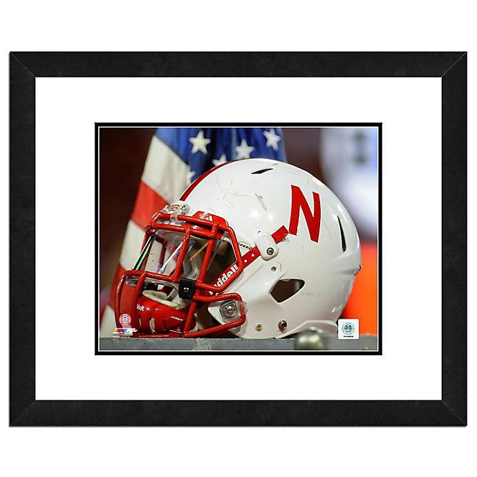 Alternate image 1 for University of Nebraska Team Helmet Framed Photo