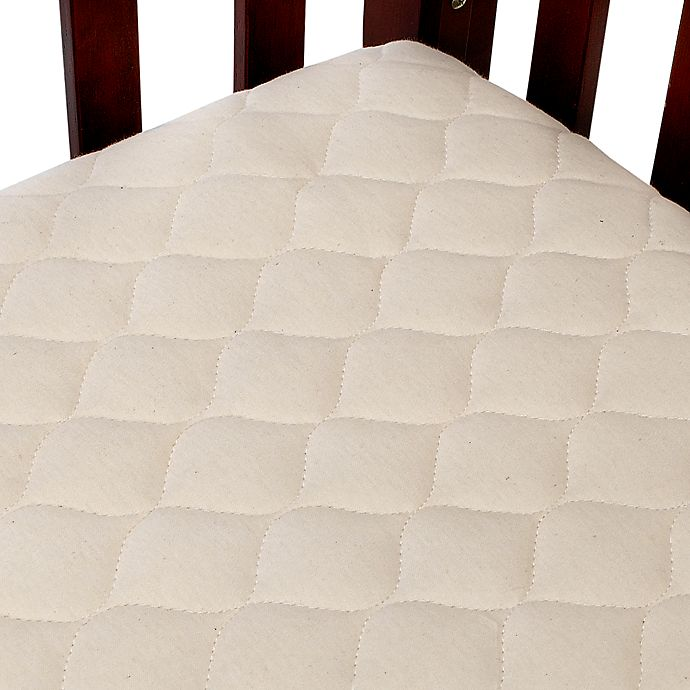 Alternate image 1 for TL Care® Waterproof Crib Fitted Mattress Cover Made with Organic Cotton in Natural