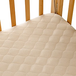 TL Care® Portable/Mini Crib Size Fitted Mattress Cover Made with Organic Cotton Top Layer