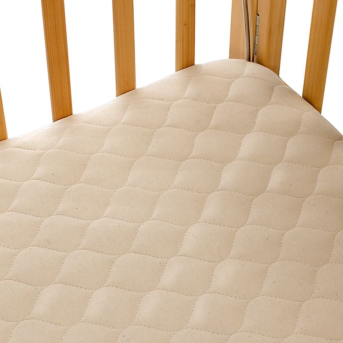 Alternate image 1 for TL Care® Portable/Mini Crib Size Fitted Mattress Cover Made with Organic Cotton in Natural