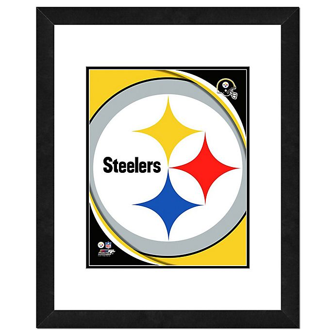 Alternate image 1 for NFL 18-Inch x 22-Inch Pittsburgh Steelers Team Logo Framed Photo