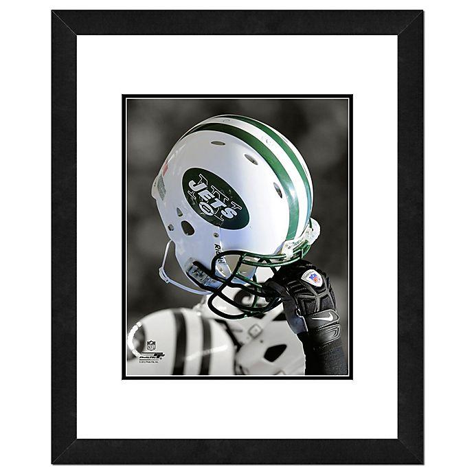 Alternate image 1 for NFL 18-Inch x 22-Inch New York Jets Helmet Framed Photo