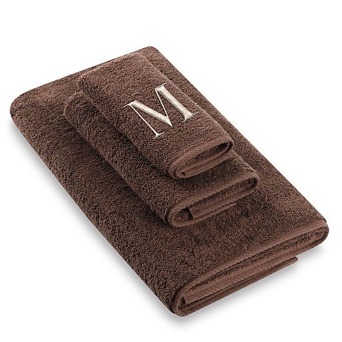"""Alternate image 1 for Avanti Premier Ivory Block Monogram Letter """"M\"""
