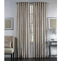 Callisto Home Mica Back Tab Window Curtain Panel in Ivory