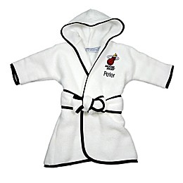 Designs by Chad and Jake NBA Miami Heat Personalized Hooded Robe in White