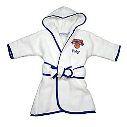 Designs by Chad and Jake NBA New York Knicks Personalized Hooded Robe in White