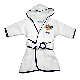 Designs by Chad and Jake NBA Los Angeles Lakers Personalized Hooded Robe in White