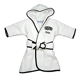 Designs by Chad and Jake NBA San Antonio Spurs Personalized Hooded Robe in White