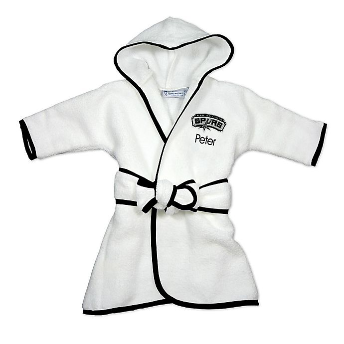 Alternate image 1 for Designs by Chad and Jake NBA San Antonio Spurs Personalized Hooded Robe in White