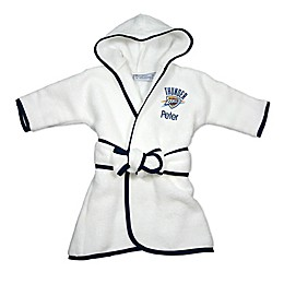Designs by Chad and Jake NBA Oklahoma City Thunder Personalized Hooded Robe in White