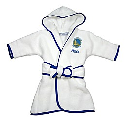 Designs by Chad and Jake NBA Golden State Warriors Personalized Hooded Robe in White