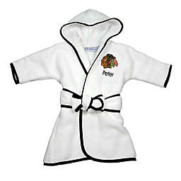 Designs by Chad and Jake NHL Chicago Blackhawks Personalized Hooded Robe in White