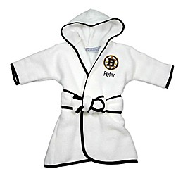 Designs by Chad and Jake NHL Boston Bruins Personalized Hooded Robe in White