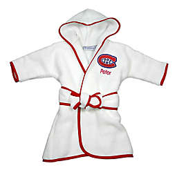 Designs by Chad and Jake NHL Montreal Canadiens Personalized Hooded Robe in White