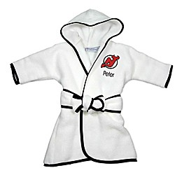 Designs by Chad and Jake NHL New Jersey Devils Personalized Hooded Robe in White