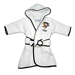 Designs by Chad and Jake NHL Pittsburgh Penguins Personalized Hooded Robe in White