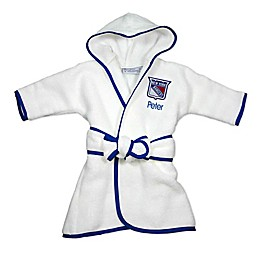 Designs by Chad and Jake NHL New York Rangers Personalized Hooded Robe in White