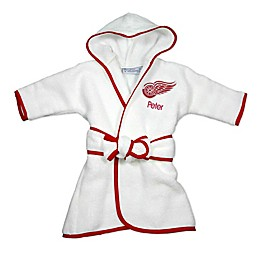 Designs by Chad and Jake NHL Detroit Red Wings Personalized Hooded Robe in White