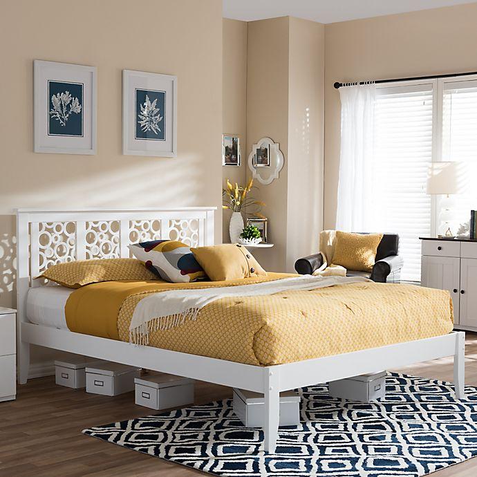 Alternate image 1 for Celine Platform Bed in White