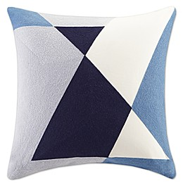 INK+IVY Aero Square Throw Pillow in Blue
